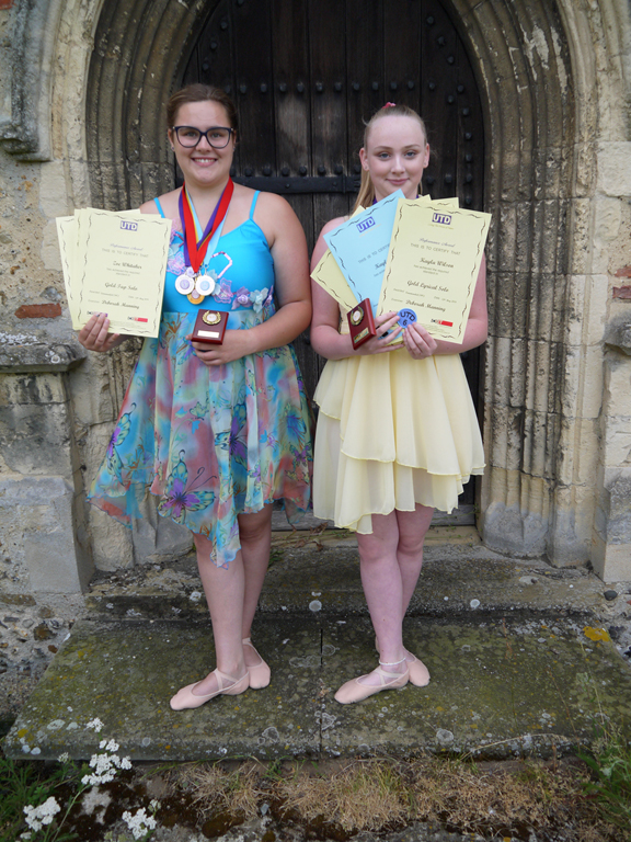 Two of our senior girls with their dance awards.